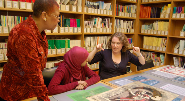 Joanna Ingham shares The Women's Library Collection with Magic Me participants