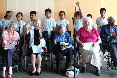 Magic Me participants at the project celebration at Clifford Chane in 2011