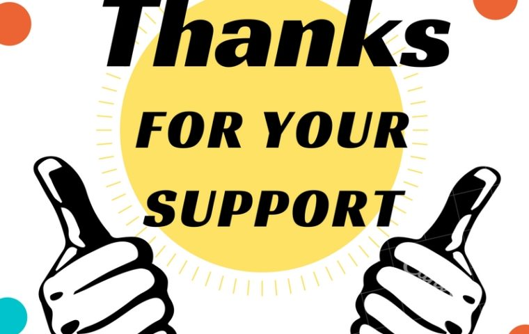Thanks for your support graphic