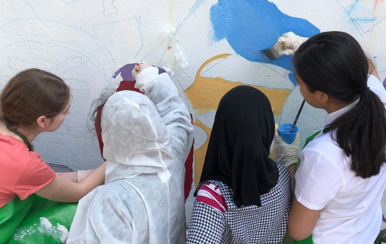 Painting the Generations United mural
