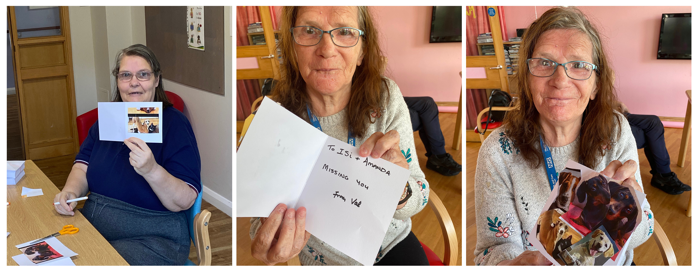 The After Party - care home postcard activity montage