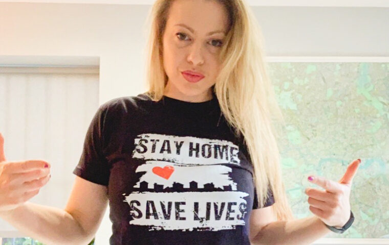 Kelly in black save lives tshirt