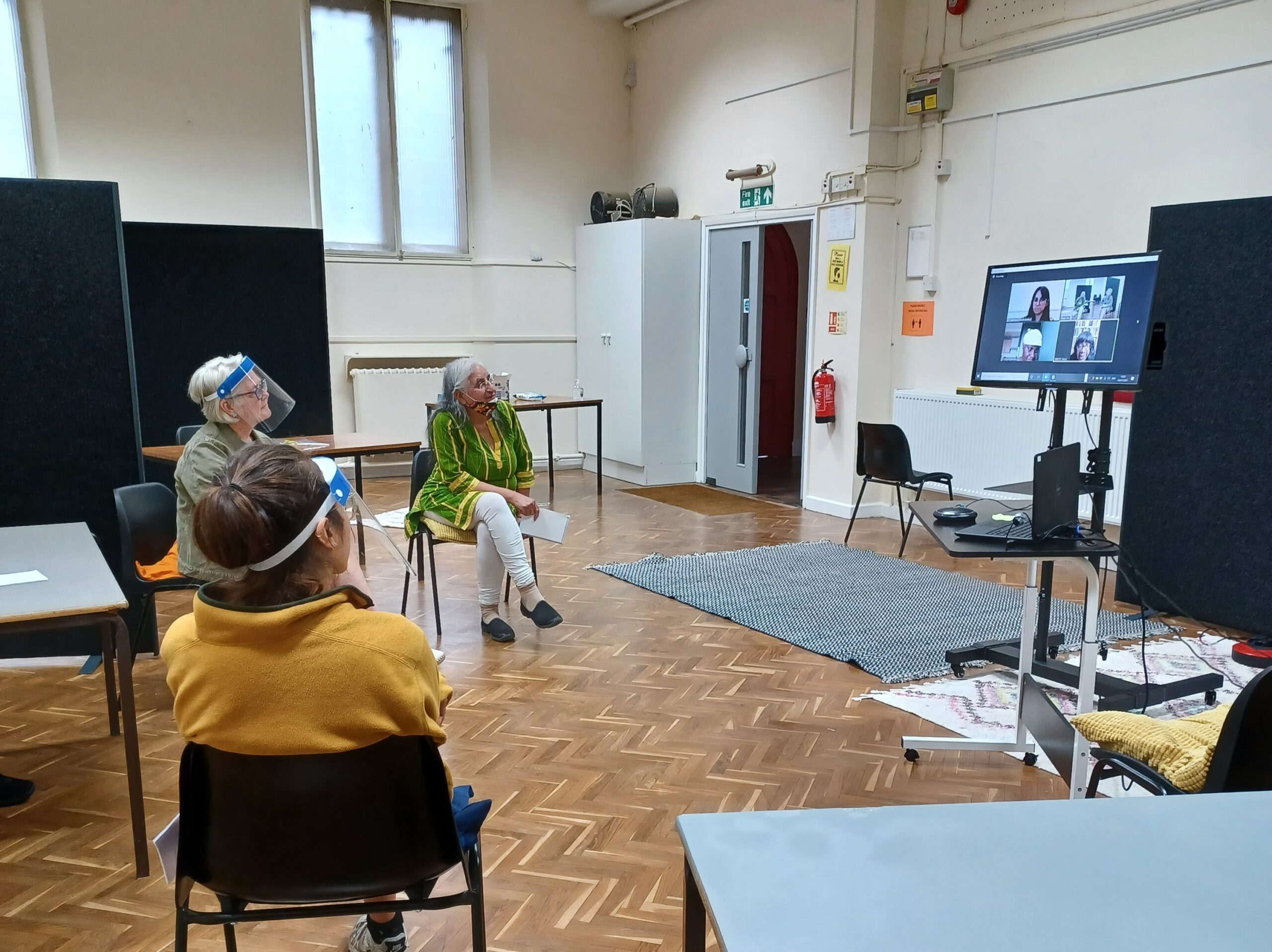 Photo of a Generation Rebellion summer workshop. A virtual meeting with MP Ms Diane Abbott and older participants.