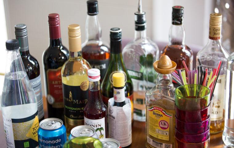 Cocktails in Care Homes bar set up