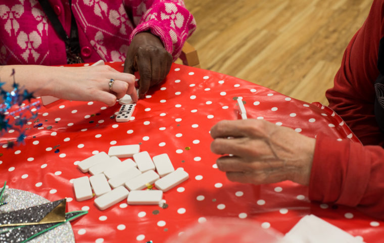 Cocktails in Care Homes - dominoes