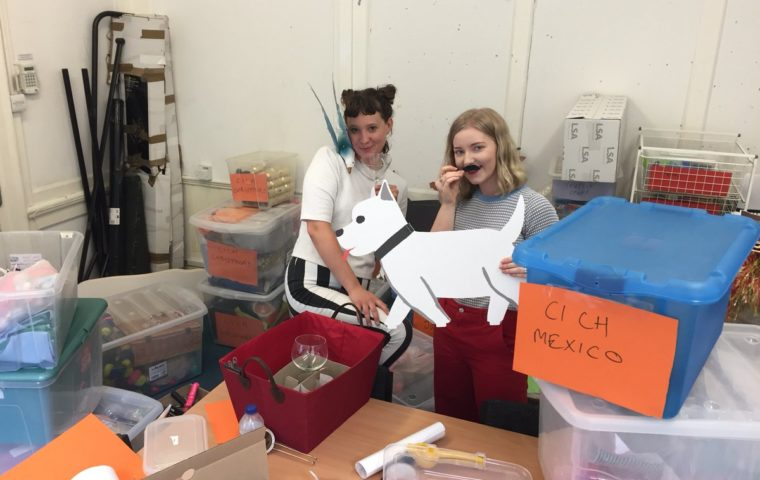 Cocktails in Care Homes - staff and volunteers sort the boxes
